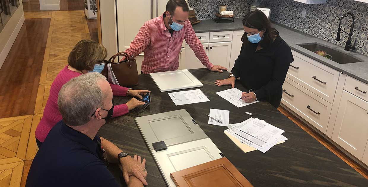 One of our designers in our North Andover or Amesbury showrooms will discuss your plans in more detail, and determine your project budget.